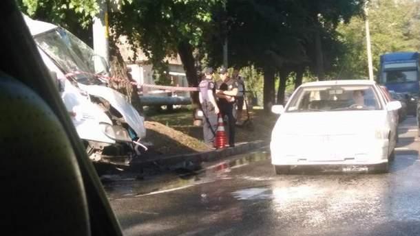 Смертельная авария с маршруткой в Днепре