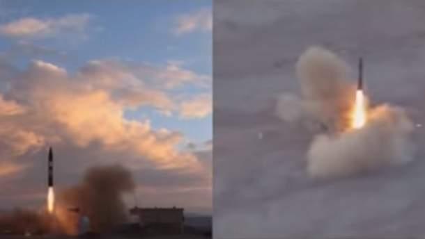 Запуск балістичної ракети в Ірані