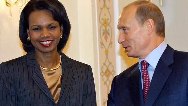 Владимир Путин часто консультировался с Кондолизой Райс