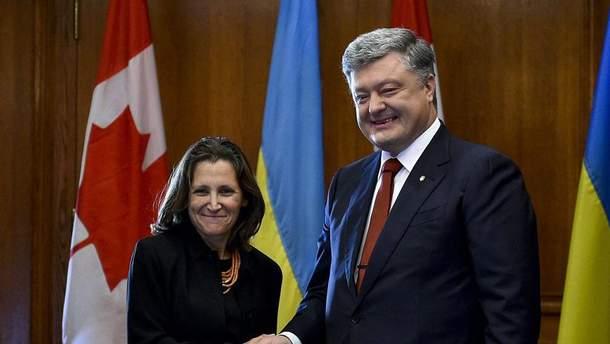 Встреча Христи Фриланд и Петра Порошенко
