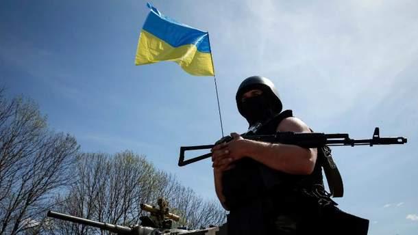 Украинские военные в зоне проведения АТО