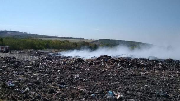 Пожар на харьковской мусоросвалке