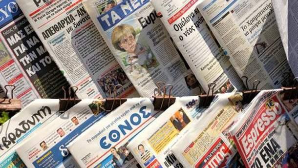 Грецькі ЗМІ оголосили страйк