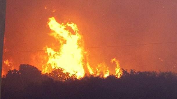 Взрывы на военных складах в Калиновке.