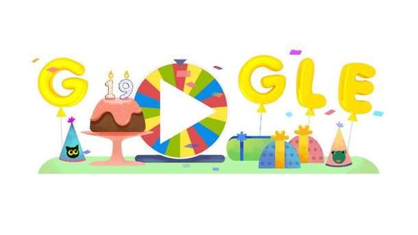 Google святкує 19 років: як грати в нову святкову рулетку в дудл