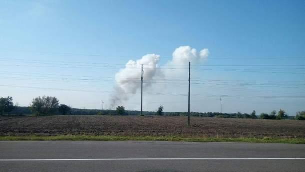 В Калиновке горят военные склады
