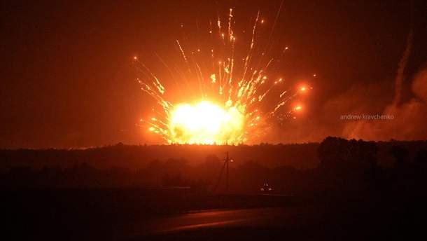 Взрывы на складах в Калиновке