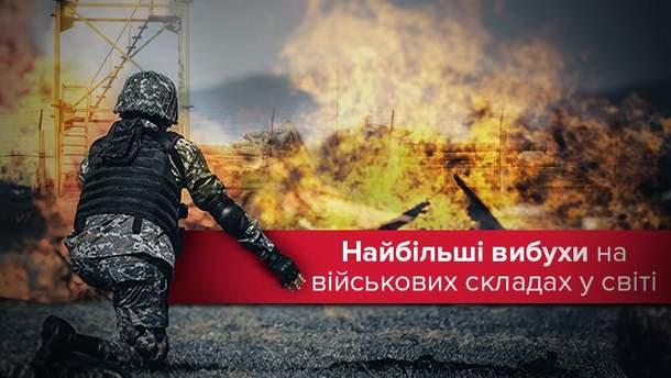 Найбільші вибухи та пожежі на військових складах світу
