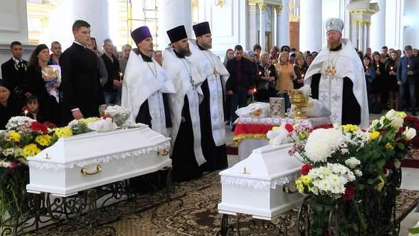 Похороны погибших в лагере в Одессе