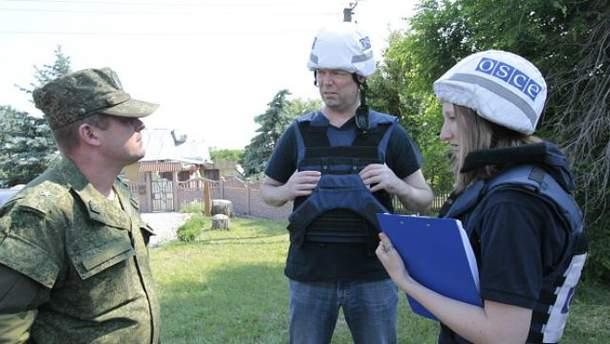 Представители ОБСЕ на Донбассе