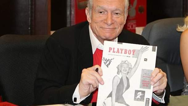 Засновник Playboy Х'ю Хефнер з першим випуском журналу