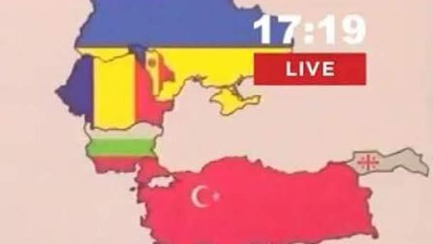 Карта Грузії без Абхазії та Південної Осетії