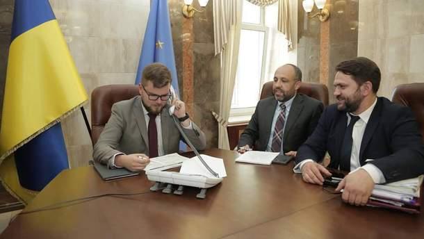 Євген Кравцов під час конференц-зв'язку