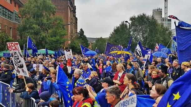В Манчестере британцы протестуют против Brexit