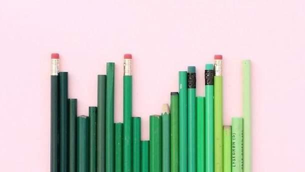 Градієнт зеленого