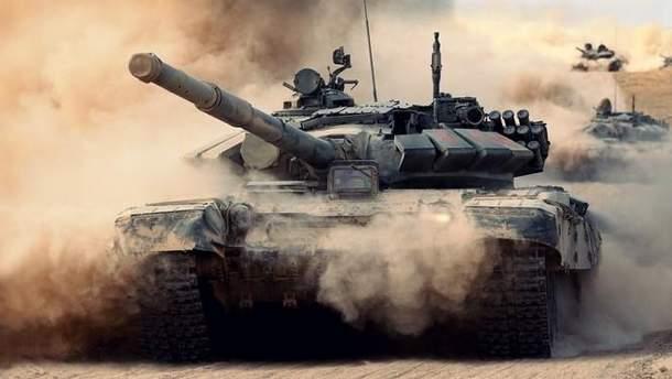 Штаб АТО показал зрелищное видео танковых учений ВСУ