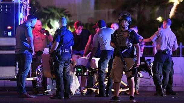 Место стрельбы в Лас-Вегасе