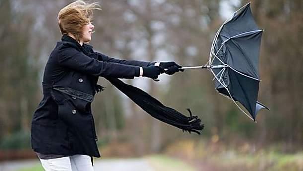 В Украине ожидается сильный ветер