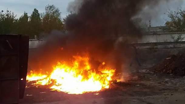 У Кропивницькому просто неба палили токсичні відходи