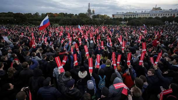 У Москві поліція розігнала нічну акцію на підтримку Навального