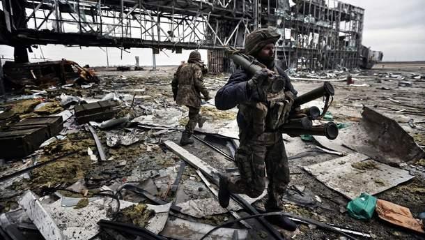 Украинские воины в Донецком аэропорту (иллюстрация)