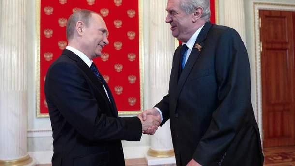Земан відвідує всі заходи, організовані Кремлем