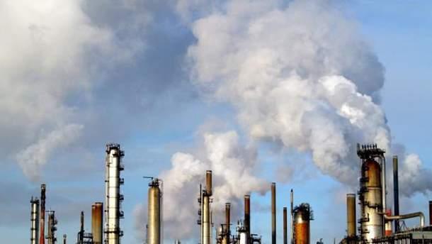 Выбросы СО2 в Украине