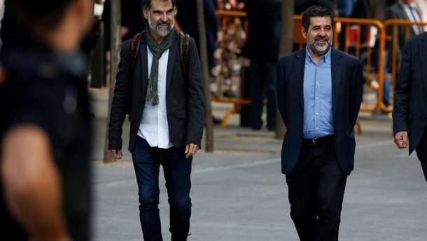 Суд в Испании арестовал двоих лидеров каталонских сепаратистов