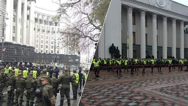 Будівля Ради у Києві оточена подвійним ланцюгом правоохоронців