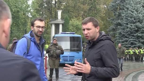 Володимир Парасюк під час сутички з Валерієм Гелетеєм