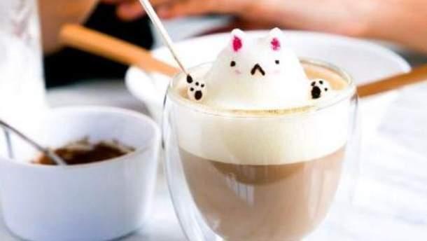 Кофе с 3D-скульптурой