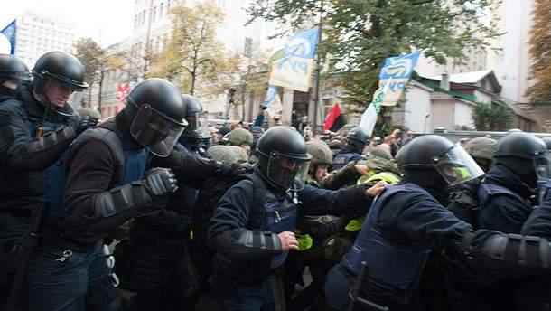 Силовики напали на протестующих