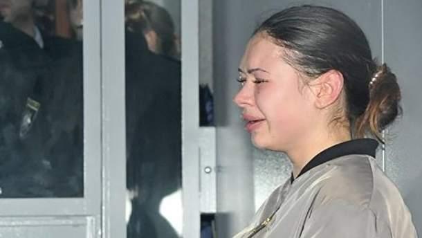 Олена Зайцева у залі суду