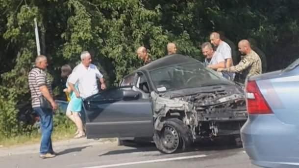 Петро Димінський на місці смертельної ДТП