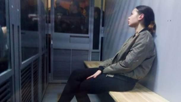 Елена Зайцева в зале суда