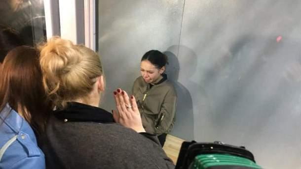Алена Зайцева в суде