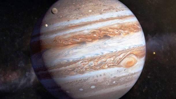 NASA показало тень спутника на поверхности Юпитера