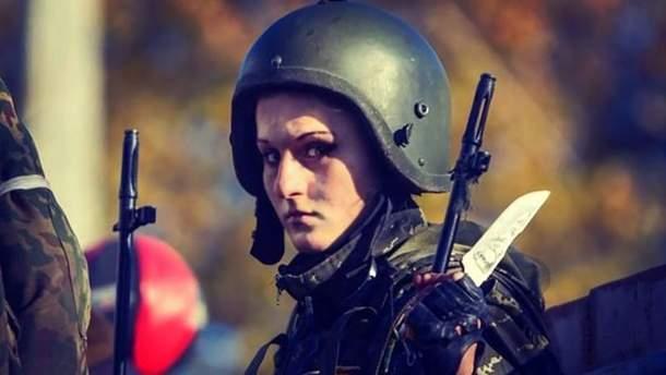 """Террористка Анастасия Слободанюк с позывным """"Белоснежка"""""""