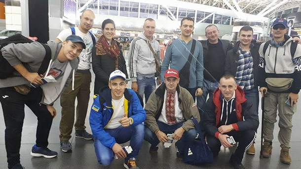 Украинская команда на марафоне