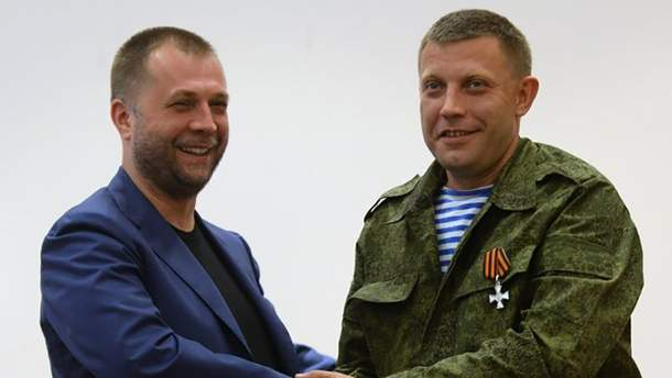 "Александр Бородай и действующий главарь ""ДНР"" Александр Захарченко"