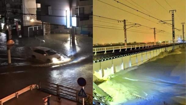 """Тайфун """"Лан"""" у Японії фото"""