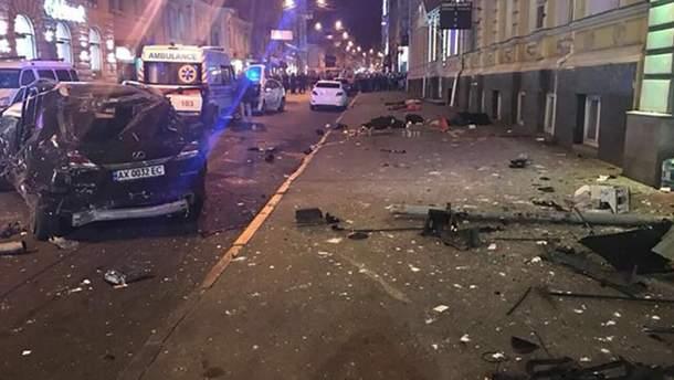 Последствия ДТП в Харькове