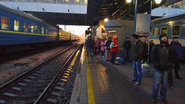 В Киеве эвакуируют центральный железнодорожный вокзал