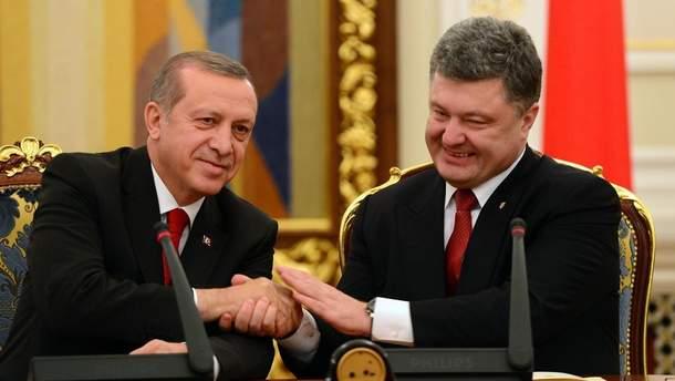Порошенко обсуждал с Эрдоганом освобождения Умерова и Чийгоза