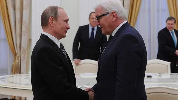Путін з Штайнмаєром поговорили про Донбас