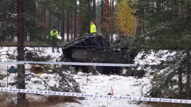 Авария в Финляндии