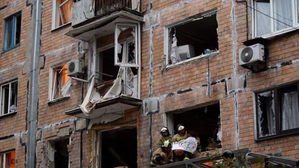Последствия взрыва в центре Донецка