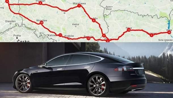 Подорож до Європи на електромобілі