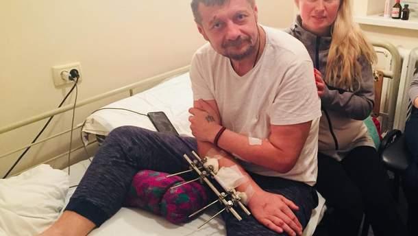 Мосійчук поділився новим фото з лікарняної палати