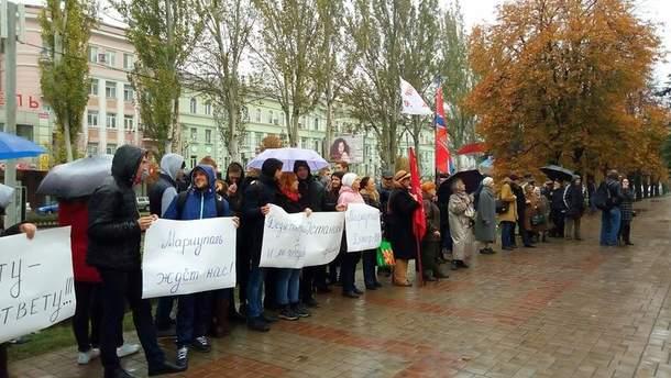 В центре Донецка состоялся так называемый антифашистский митинг